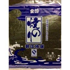 Rong Biển Cuộn Cơm Sushi, Gimbab Hàn Quốc Cực Ngon (1 gói x 10 miếng)