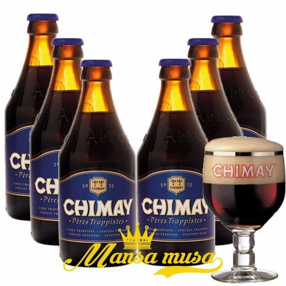 Mẫu sản phẩm Sét 6 chai : Chimay Xanh – Bỉ, Châu Âu 9%