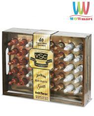 Bảng Báo Giá Socola rượu hộp gỗ sang trọng VSC Liquor Chocolates Cremes 40 chai