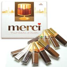 Socola thanh hộp giấy Merci 250gr