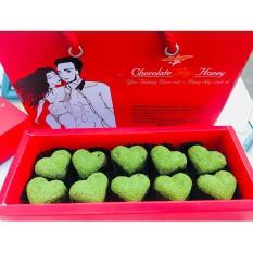 Socola trái tim 10 viên matcha trà xanh – Quà tặng sinh nhật – Socola valentine
