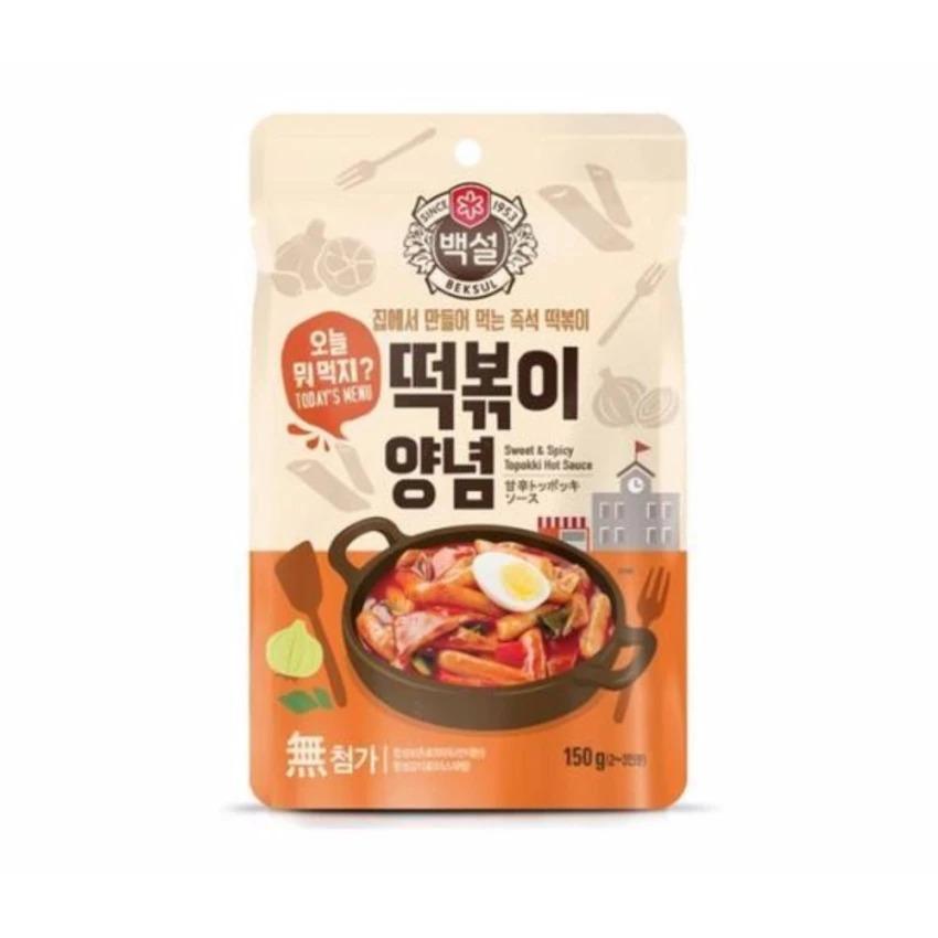 Sốt bánh gạo cay ngọt Topokki Beksul Hàn Quốc Nhập Khẩu (150g)