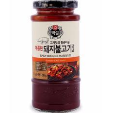 Sốt BBQ Thịt Heo Cay Bulgogi Marinade Beksul Hàn Quốc đặc biệt lọ 290g