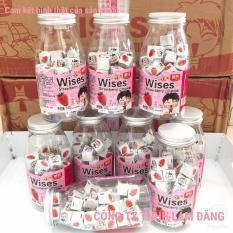 Nơi nào bán Sữa chua khô viên vuông Wises vị dâu gồm 50 Viên/ 140G kèm lọ nhựa trong suốt siêu dễ thương (Nhập khẩu Hồng Kông).