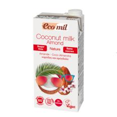 Ecomil organic coconut milk with almonds 1L