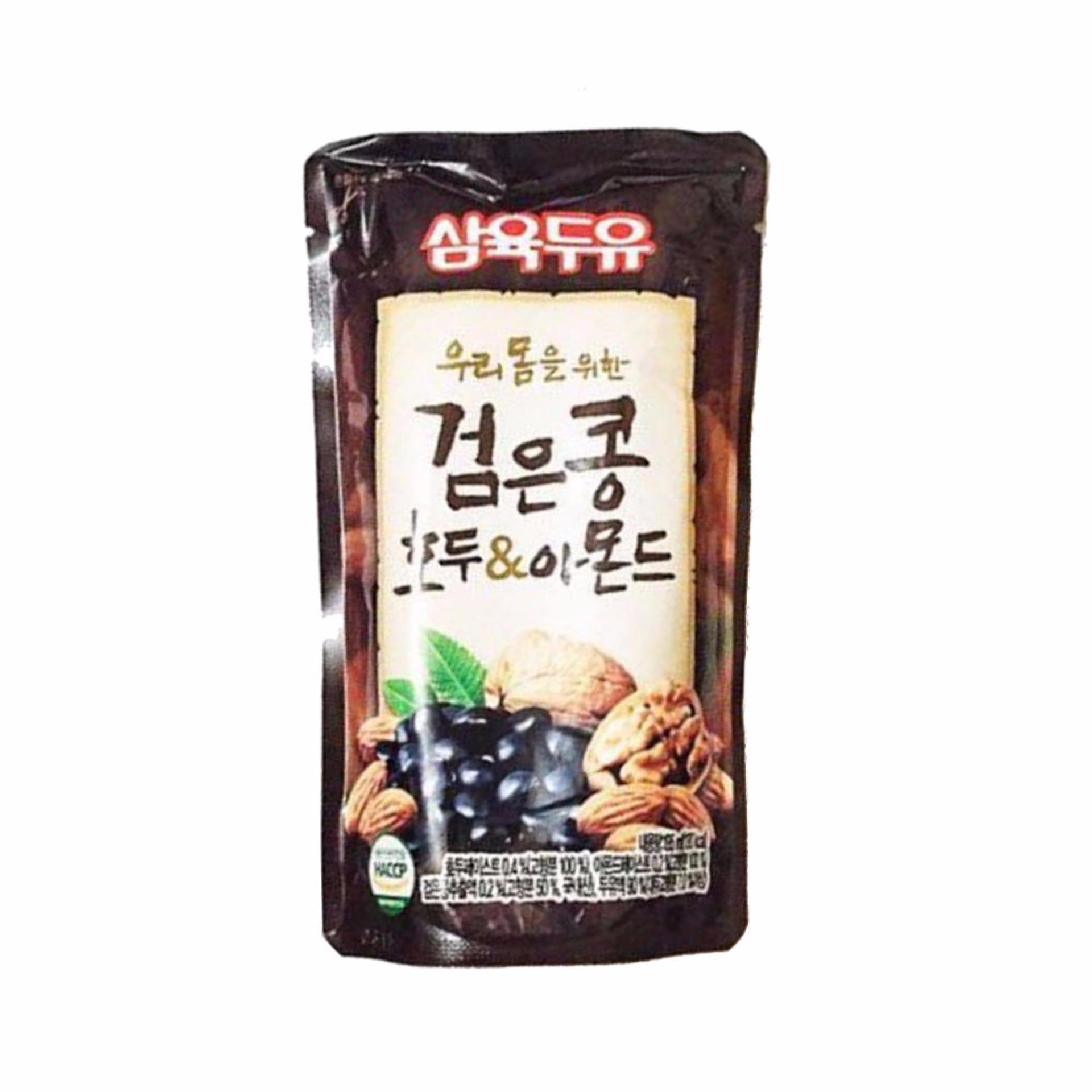 Sữa Óc Chó Hạnh Nhân Đậu Đen Hàn Quốc Thùng 20 Gói X 190ml
