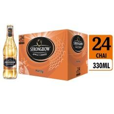 Bảng Báo Giá Thùng 24 chai nước táo lên men Strongbow Honey – Vị mật ong 330ml