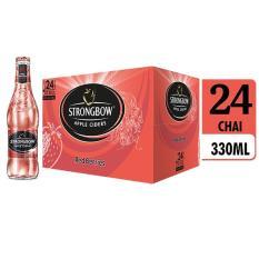 Cửa hàng bán Thùng 24 chai nước táo lên men Strongbow Red Berries – Vị dâu đỏ 330ml