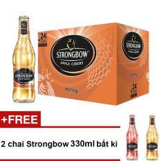 Thùng 24 chai Strongbow Honey vị mật ong 330ml + Tặng 2 chai Strongbow 330ml bất kì