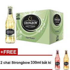 Nơi mua Thùng 24 chai Strongbow hương hoa Elder 330ml + Tặng 2 chai Strongbow 330ml bất kì