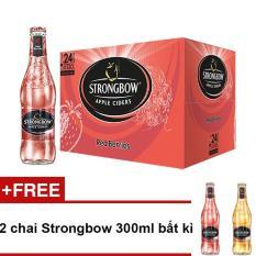 So Sánh Giá Thùng 24 chai Strongbow Red Berries vị dâu đỏ 330ml + Tặng 2 chai Strongbow 300ml bất kì