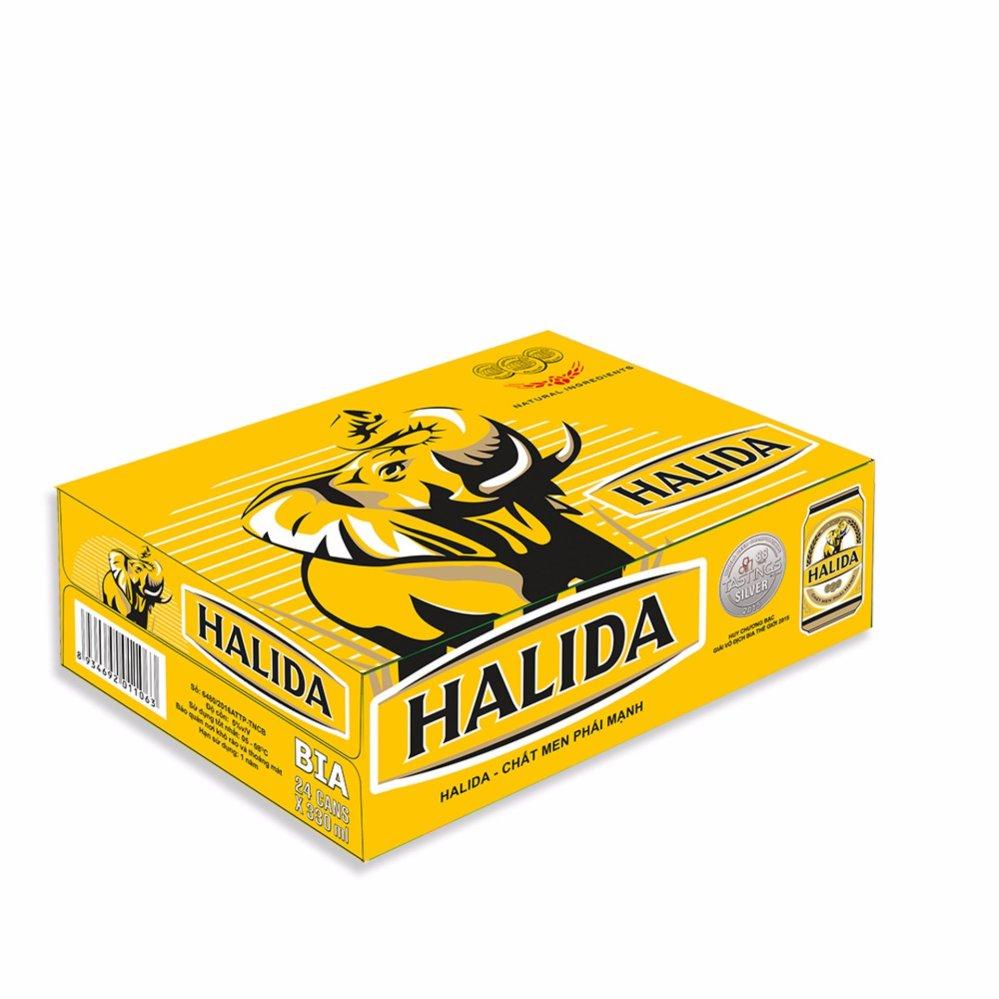 Nơi mua Thùng 24 Lon Bia Halida 330ml
