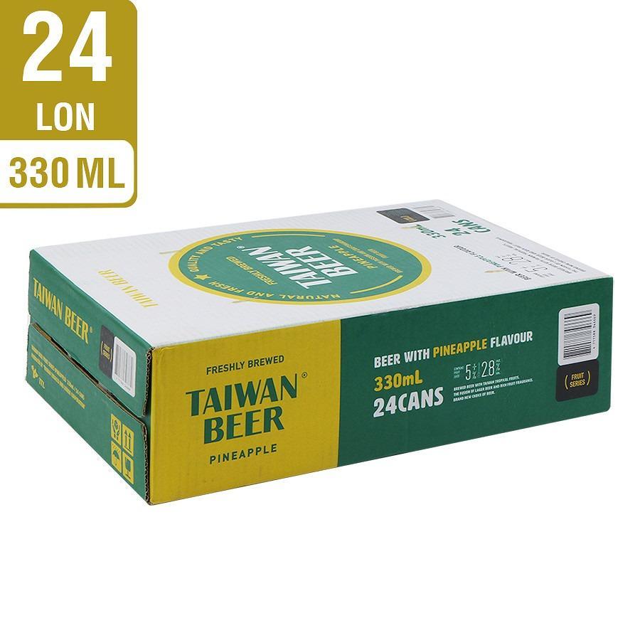 Thùng 24 Lon Bia Trái Cây Vị Dứa Taiwan Beer (330ml / Lon)