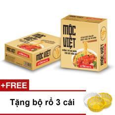 Địa Chỉ Bán Thùng 30 gói mì Mộc Việt vị Tôm Chua Cay + Tặng bộ rổ 3 cái