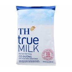 Thùng 48 bịch sữa có đường TH true milk 220ml