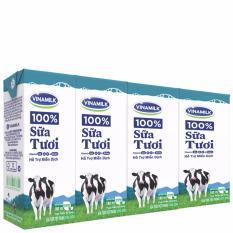 Thùng 48 Hộp Sữa tươi tiệt trùng Vinamilk 100% Không Đường 180ml