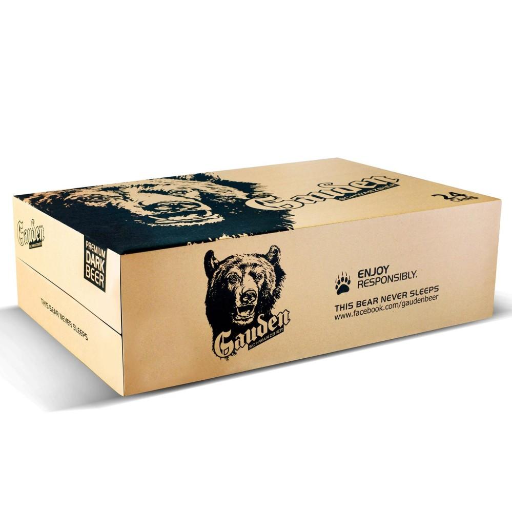 Thùng bia đen Gauden 24 Lon x 330ml