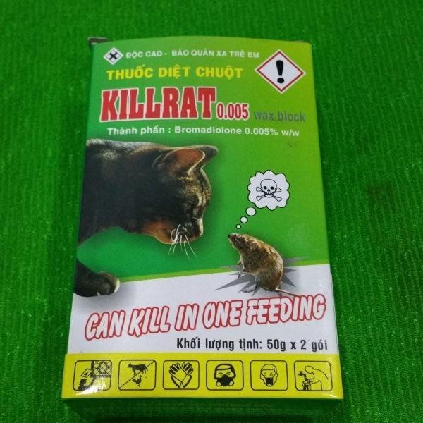 Báo Giá Thuốc diệt chuột Killrat 0.005% ( hộp 100gr )