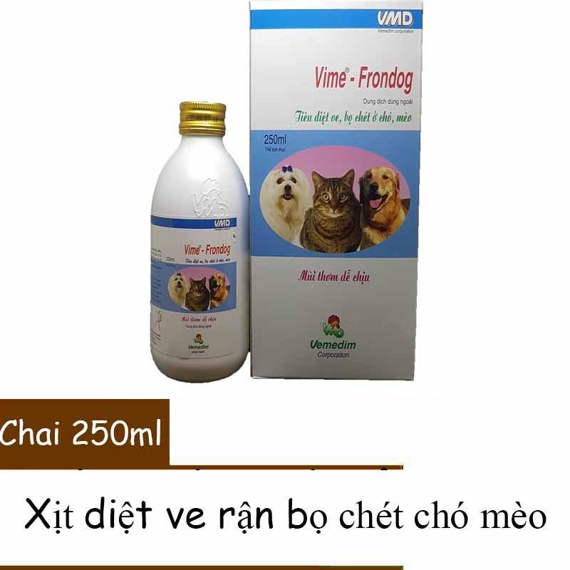 Bảng Báo Giá Thuốc xịt diệt ve bọ chét ghẻ trên chó mèo – Vemedim Frontdog 250ml