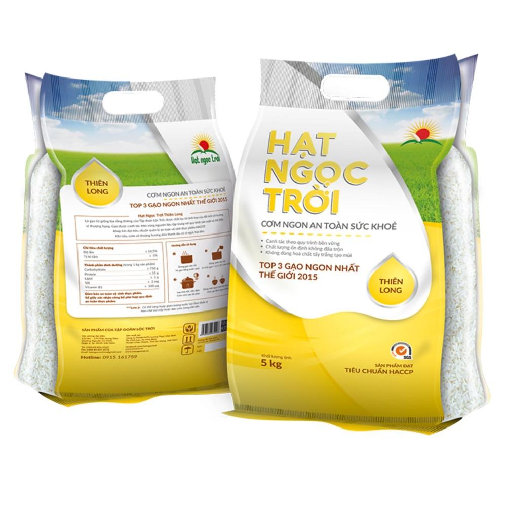 Top 3 gạo ngon nhất thế giới Gạo Thiên Long Hạt Ngọc Trời Túi 5kg