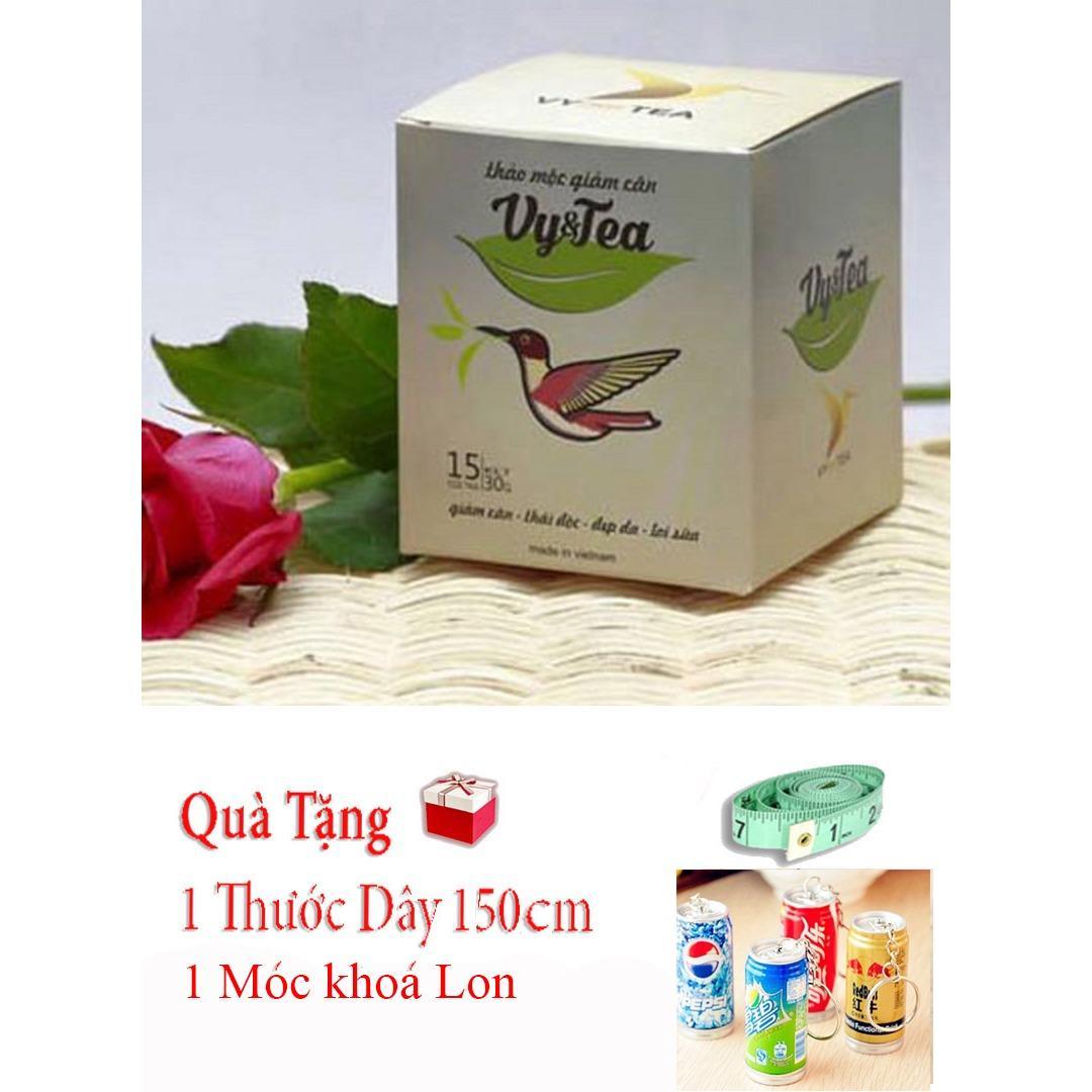 Trà giảm cân Vy Tea+Tặng Móc Khóa Lon, thước dây