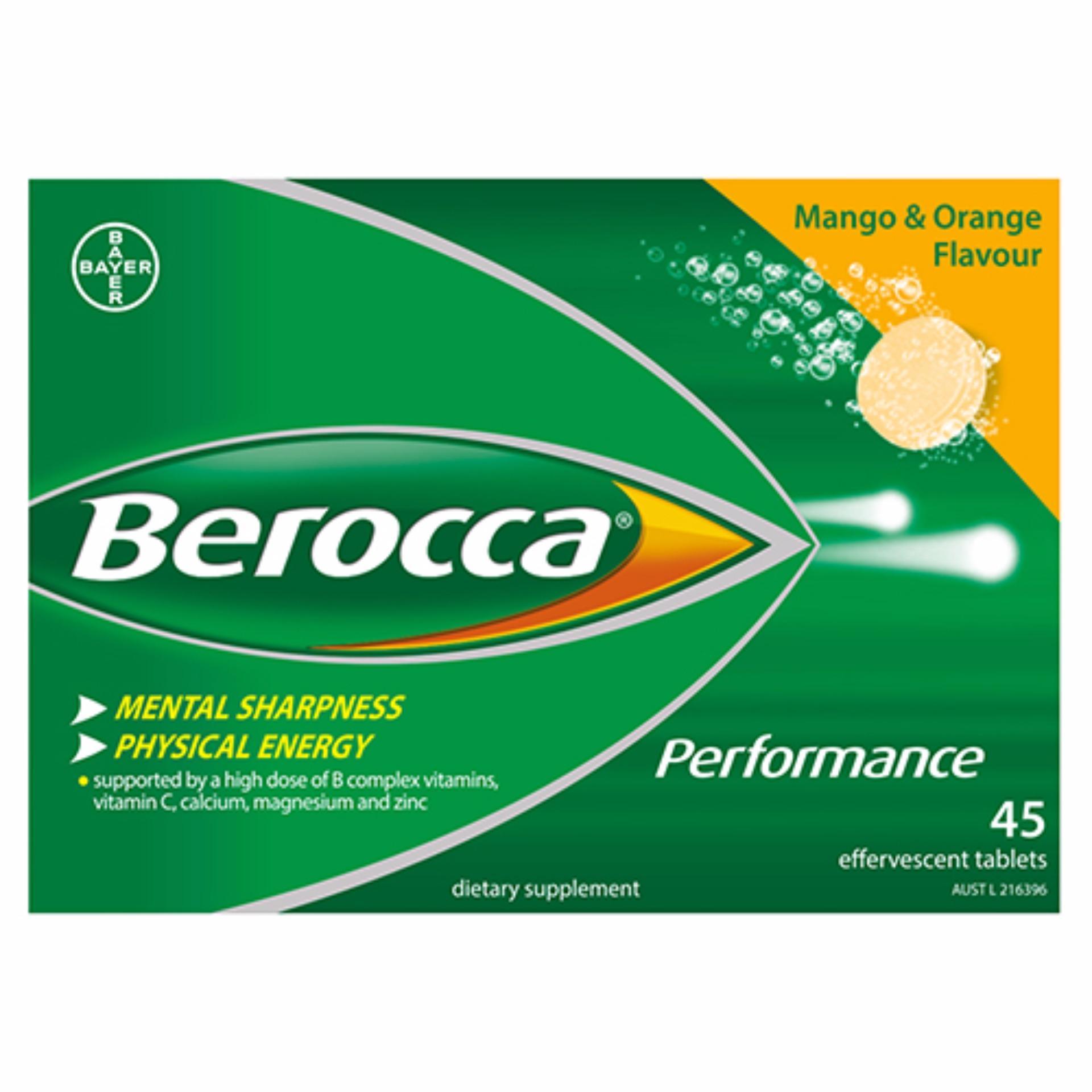 Viên sủi tăng lực - tăng sức đề kháng Berocca Mango & Organe Flavour của Úc
