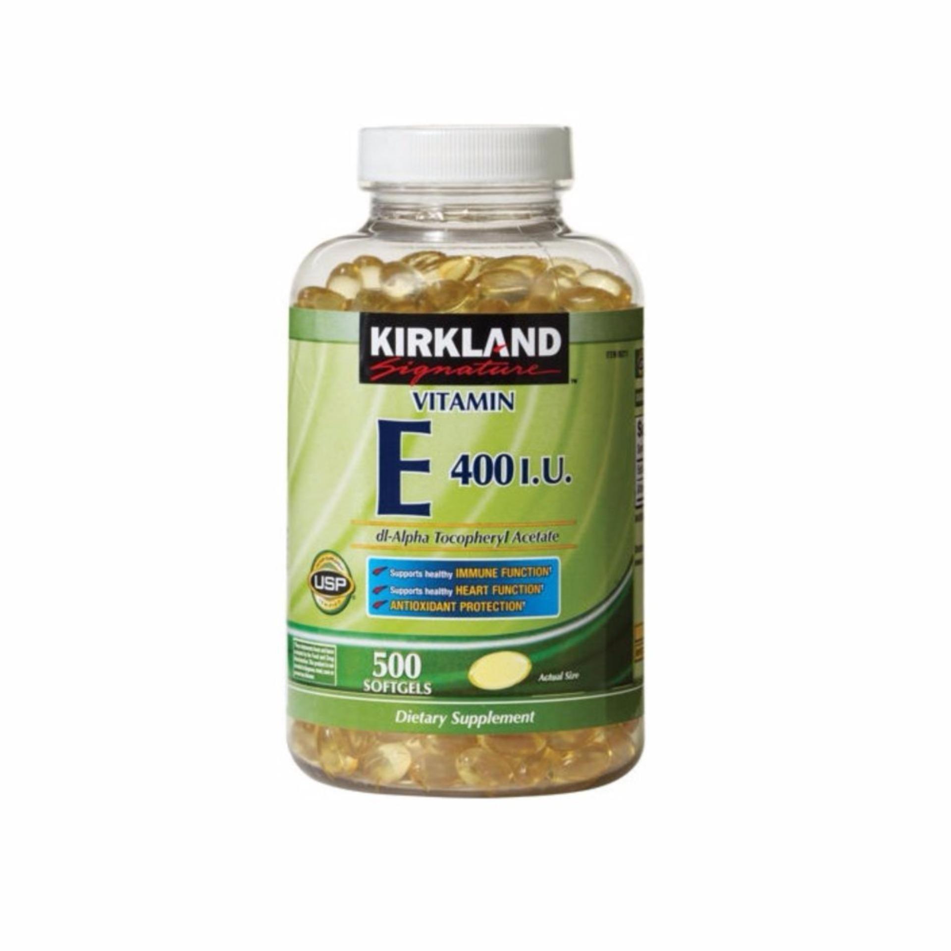 Cập Nhật Giá Vitamin E đẹp da , ngăn ngừa lão hóa Kirkland Signature