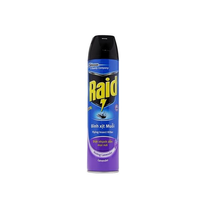Xịt Muỗi Raid FIK Hương Lavender 600ml+60ml