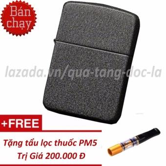 Zippo Xi đầu tròn đen + Tặng tẩu lọc thuốc lá Mini PM5 - 8853003 , ZI750WNAA7D6T9VNAMZ-13620605 , 224_ZI750WNAA7D6T9VNAMZ-13620605 , 1099000 , Zippo-Xi-dau-tron-den-Tang-tau-loc-thuoc-la-Mini-PM5-224_ZI750WNAA7D6T9VNAMZ-13620605 , lazada.vn , Zippo Xi đầu tròn đen + Tặng tẩu lọc thuốc lá Mini PM5