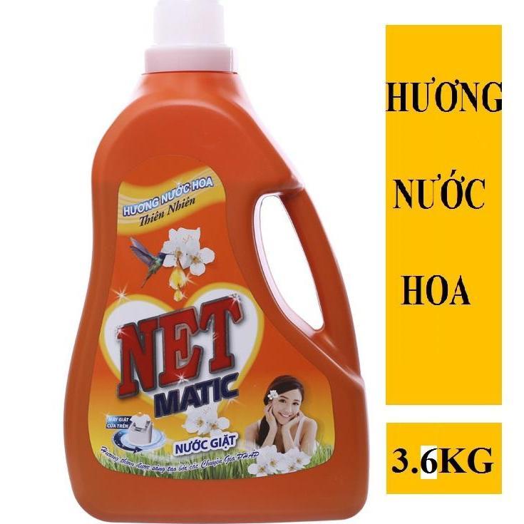 Nước giặt NET Matic hương nước hoa thiên nhiên chai 3.6kg