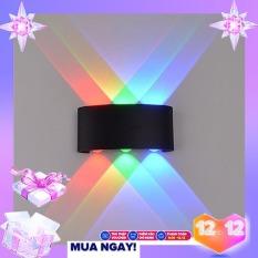 Đèn hắt tường trang trí 6 tia ánh sáng màu. ĐÈN HẮT TƯỜNG LED CHIẾU SÁNG HAI ĐẦU 6 MẮT 3 ÁNH SÁNG.