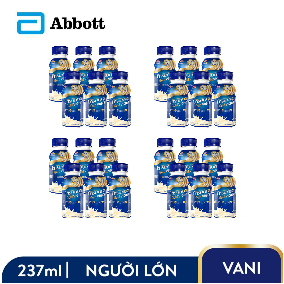 Thùng 24 chai sữa nước Ensure Gold Vigor 237ml