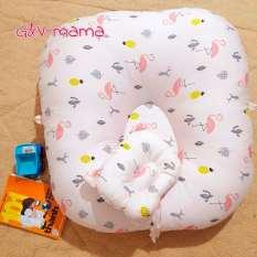 (Sale tương tác – tặng gối chống méo đầu) Gối nằm cho bé chống trào ngược, gối chống ọc chớ sữa bé sơ sinh