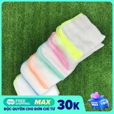 10 khăn sữa cho bé 4 lớp Kim Ngân KT 25*33cm chất cotton thấm hút an toàn cho bé
