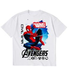 Áo thun bé trai vải dày mịn mát in hình Spider Man 3D được các bé trai yêu thích ATBT53