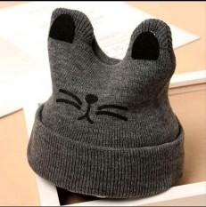 (105) Mũ Len Tai Mèo Siêu Đáng Yêu Phong Cách Hàn Quốc Cho Bé