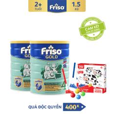 [Freeship toàn quốc] Bộ 2 lon sữa bột Friso Gold 4 1.5 kg cho trẻ từ 2-4 tuổi + Tặng Bộ đánh Golf trị giá 400K