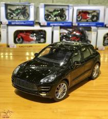 Mô hình xe ô tô Porsche Macan Turbo Hãng Welly FX tỉ lệ 1:24 màu đen