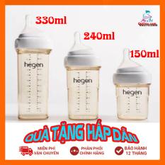 Bình sữa Hegen 150ml/240ml/330ml – Full hộp (Được chọn Size núm ti 1/2/3/Y)
