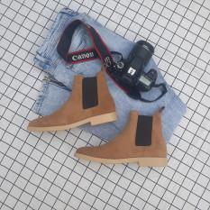 Giày Chelsea Boots Da Lộn Nâu Đế Cao Su Non Handmade Vietnam