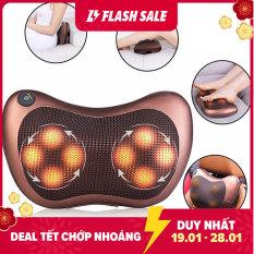 Gối massage hồng ngoại 8 bi thiết kế gọn nhẹ, một nút bấm thay đổi nhiều chế độ, dễ sử dụng, gối mát xa toàn thân giảm đau mỏi, máy massage 2 chiều sưởi ấm hồng ngoại tăng tuần hoàn máu tốt, giảm mỏi lưng, mỏi gáy
