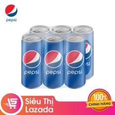Lốc 6 Lon Nước Ngọt Có Gas Pepsi (330ml/Lon)
