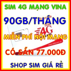 Sim 4G Vina có sẵn 77.000đ để đăng ký gói 3GB/ngày (90GB/tháng) + Miễn phí gọi nội mạng Vinaphone – Giống như sim 4G Vinaphone VD89P (VD89 Plus) – Shop Sim Giá Rẻ