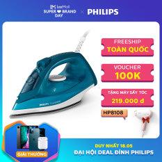 [Duy nhất hôm nay] Bàn ủi hơi nước Philips GC1756 2000W (Xanh) – Mặt đế bằng gốm để trượt dễ dàng trên mọi loại vải và chống trầy xước – Hàng phân phối chính hãng