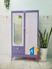 Tủ sắt quần áo cao 1m8 ngang 90cm màu tím có hộc và khóa kéo – Nội Thất Đại Thành