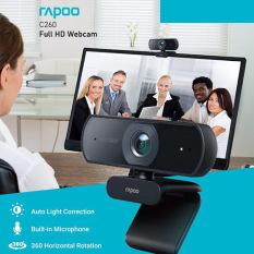 [HCM]Webcam RAPOO C260 độ phân giải Full HD 1080P – Hãng phân phối chính thức