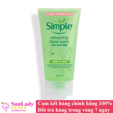 Sữa Rửa Mặt Dịu Nhẹ Dạng Gel Simple Refreshing 150ml chính hãng – Sữa rữa mặt chống lão hóa trị mụn Simple