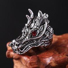 Nhẫn nam titan thép không gỉ Đầu Rồng Mắt đỏ Chất – Độc – Lạ – Top vua phụ kiện thời trang nam