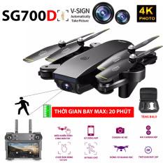 (NEW 2020)TẶNG BALO – FLYCAM SG700D Camera 4K HD, Hai camera kép, thời gian bay 20p, Wifi 2.4G tích hợp tối đa các thiết bị di động – HÀNG CHÍNH HÃNG BẢO HÀNH 3 THÁNG