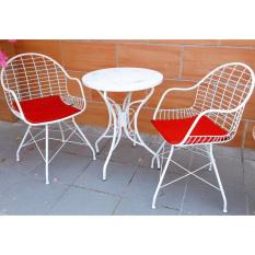 [Freeship]Bộ bàn café Natale 2 ghế Alba IBIE gia công tỉ mỉ, chất lượng xuất khẩu, bảo hành 12 tháng